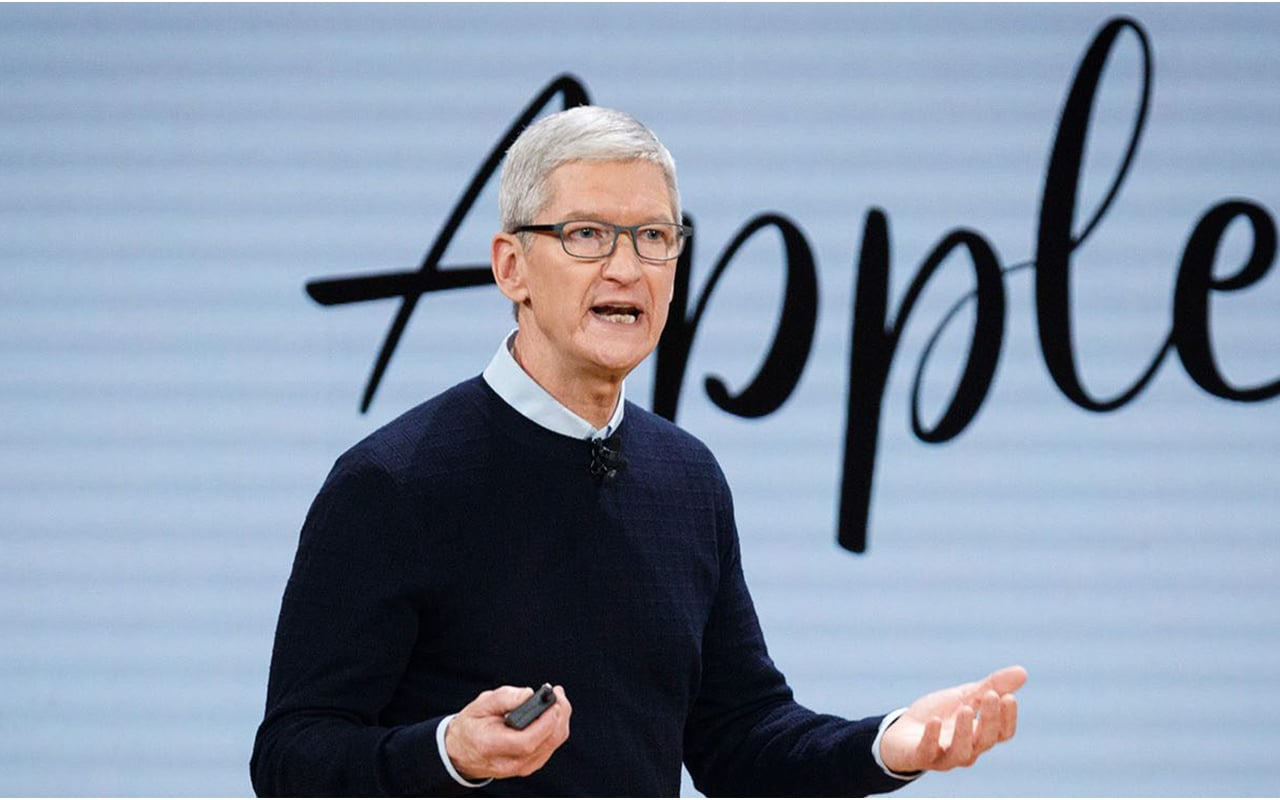 """Apple CEO Cook says his organization is """"interestingly American"""" with no """"predominant piece of the overall industry"""""""