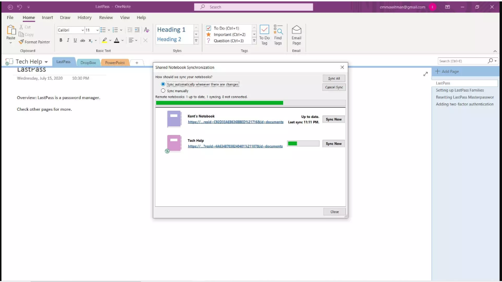 Does OneNote consequently save? Instructions to utilize the Microsoft application's sync highlight to autosave