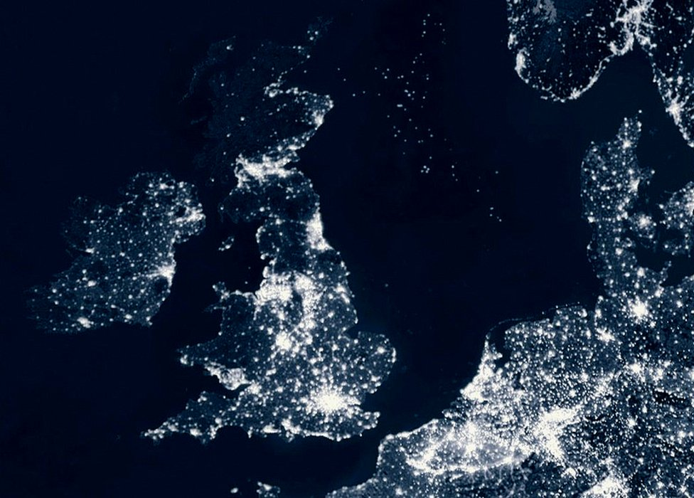 Light contamination's squandered energy seen from space